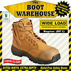 """WIDE LOAD (RP1)  'EXTRA WIDE'  6"""" Zip-Side  Work Boots. Composite Toe Safety."""