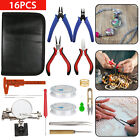 DIY Jewelry Making Kit Wire Sterling Silver Beading Repair Tools Craft Supplies