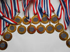 SPECIAL AWARD - 50 MM METAL MEDALS WITH RIBBON SET OF 15 - GREAT QUALITY