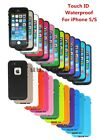 TOUCH ID Waterproof Shockproof Dirt Snow Proof Case Cover For iPhone 4S 5 5S 5C
