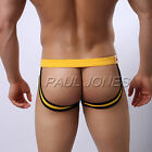 Mens Male Jockstrap Cheeky Underwear Briefs Thong Backless G-String Pouch Shorts