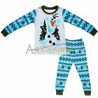 FROZEN OLAF BOYS GIRLS PYJAMAS PJS SET T-SHIRT PANTS SLEEPWEAR OUTFIT NIGHTWEAR