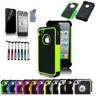 Hybrid Shockproof Defender Armor Durable Case Cover For iPhone 4 4S 4G