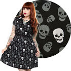 Rizzo Lust For Skulls Dress Rockabilly Retro Pin Up Punk Gothic Skull Cute