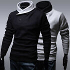 FREE SHIP~ Men's Splicing Collar Coat Outerwear Coats & Jackets Casual Homewear