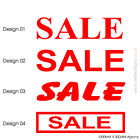 2 X SALE Sign Stickers Vinyl Cut / Decals, Retail Shop Window 1000X300