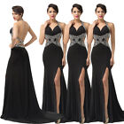 Bling Bling~Sexy Backless Mermaid Long Formal Evening Gown Prom Homecoming Dress