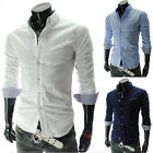 SALE~Sexy Men's Formal Mesh Decent Business Buttoms Basic Fit Long Sleeve Shirts