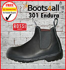 Rossi Mens Work Boots Endura Black Leather Non Safety Made in Australia 301