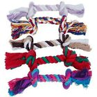 Wholesale Chic Dog Pet Puppy Chew Cotton Braided Rope 2 Knot Tug Toy Chew Tools