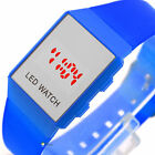 HOT LED Unisex PVC Plastic Stainless Steel Date TIME Digital Display Watch CH
