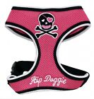 Soft Mesh Dog Harness from Hip Doggie. Pink Girlie Skull