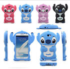 Cute 3D Soft Silicon Rubber Gel Cover Case For Samsung GALAXY NOTE 2 II N7100