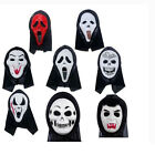 Novelty Ghost Scream Face Mask Costume Scary Full Head Mask Creepy Halloween