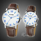 Lovers Leather Strap Wristwatch Women Men Quartz Watches Unisex Sport Watch