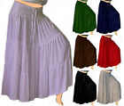 @Z102 RUFFLED MAXI SKIRT MADE TO ORDER S M L XL 1X 2X 3X 4X 5X 6X WOMEN FASHION