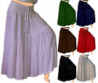WOMEN FASHION RUFFLED MAXI SKIRT LotusTraders MADE TO ORDER MISSES PLUS Z102