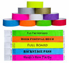 Custom Printed Tyvek Wristbands Event Security Admission Wristband - Neon Yellow