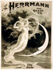 8024.Herrman the great company.woman floating in air.POSTER.art wall decor
