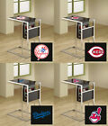 FC692 MLB THEME SLIDE UNDER BLACK GLASS SHELF TV TRAY MAGAZINE RACK FREE SHIP