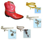 FC153 WOMEN'S BOOT WEAR CHAIN ANKLE ACCESSORY COUNTRY RUSTIC WESTERN w/ CHARM!