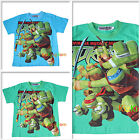 TMNT Teenage Mutant Ninja Turtles Summer Boy Tee T-shirt Top Size 2,4,6,8,10
