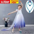 New Girls Frozen Princess Elsa Party Birthday Dress Tutu Skirt Costume size 1-8Y