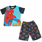 Spiderman Spider Man Summer Pyjamas Pajamas PJS Top Short Sz 2,4,6,8,10