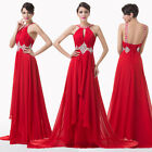 Sexy Long Layered Hollowed Party LONG Cocktail Bridesmaid Evening Prom Dress DQ