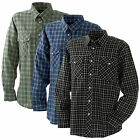 Blaklader Mens Long Sleeved Flannel Checked Work Shirt - 3260