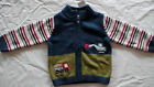 NWT GYMBOREE LIL' DIRT MAGNET TRUCK SWEATER CARDIGAN STRIPE BULLDOZER LAYETTE