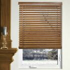 Bamboo Wood Blinds - White, Oak, Walnut - 29W x 64L