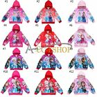 Frozen Princess Elsa Anna Girls Zip Hoodie Sweatshirt Jacket Outwear Clothing