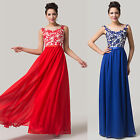 ❤~Applique~Elegant Masquerade Attire Cocktail Bridesmaid Evening Prom Long Dress