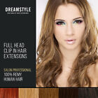 18 inch full head clip in remy human hair extension