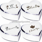 ENGRAVED HEART SHAPED TRINKET BOX Gifts for Birthday Present her my women ideas