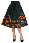 Plus size 1950's Retro Skirt with Bow Sash in Black and Yellow size 18 to 28