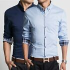 3 Color Z6222 New Men's Long sleeve Luxury Casual Slim Fit Stylish Dress Shirts