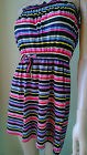 ROXY sun dress bandeau Baja California Stripe beach cover up