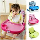 New Portable Deluxe  Baby Toddler Kids Folding Booster Seat Highchairs with Tray