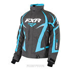 2015 Womens FXR Winter Snowmobile Charcoal & Aqua Team Jacket Size 6-16