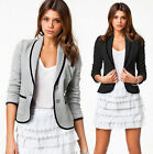 New Womens Ladies Stylish Casual Suit Coat Jacket Blazer Size 2-16 UK