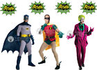 DELUXE HIRE QUALITY BATMAN ROBIN JOKER SUPERHERO ADULT MENS FANCY DRESS COSTUME