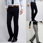 For Suits New Mens Korean Slim Fit Straight Dress Pants Trousers