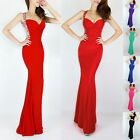 Mermaid Evening Gowns Prom Party Cocktail Bridesmaid Wrap Maxi Dress Stock 6-20