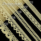 1M Zakka Ivory Cream Cotton Lace Ribbon Fabric Crochet Style Trim Cardmaking