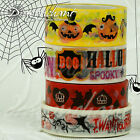 Paper Washi Masking Tape Adhesive Roll Decorative Trim Halloween Bakers Twine