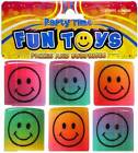 PACK OF 6 SMILEY FACE SPRING  Kids Party Favor Favour Loot Bag Gift Filler Toy