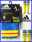 ADIDAS 2014 SWEDEN HOME SOCKS football soccer calcio Mens Boys Sverige 2015 New