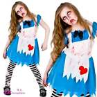 Alice In Zombieland New Kids Girls Costume Halloween Zombie Sizes 5-13 Years